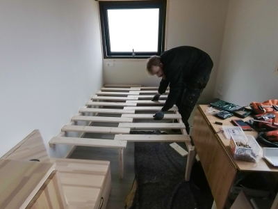 Building the sofa and our kitchen lamp